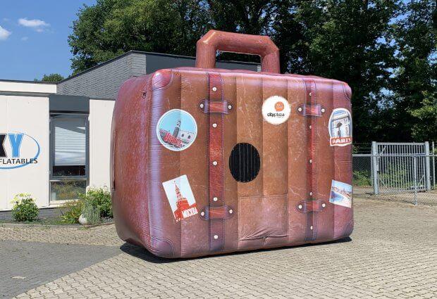 Opblaasbare koffer